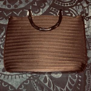 Authentic Gucci bamboo dark brown hand bag